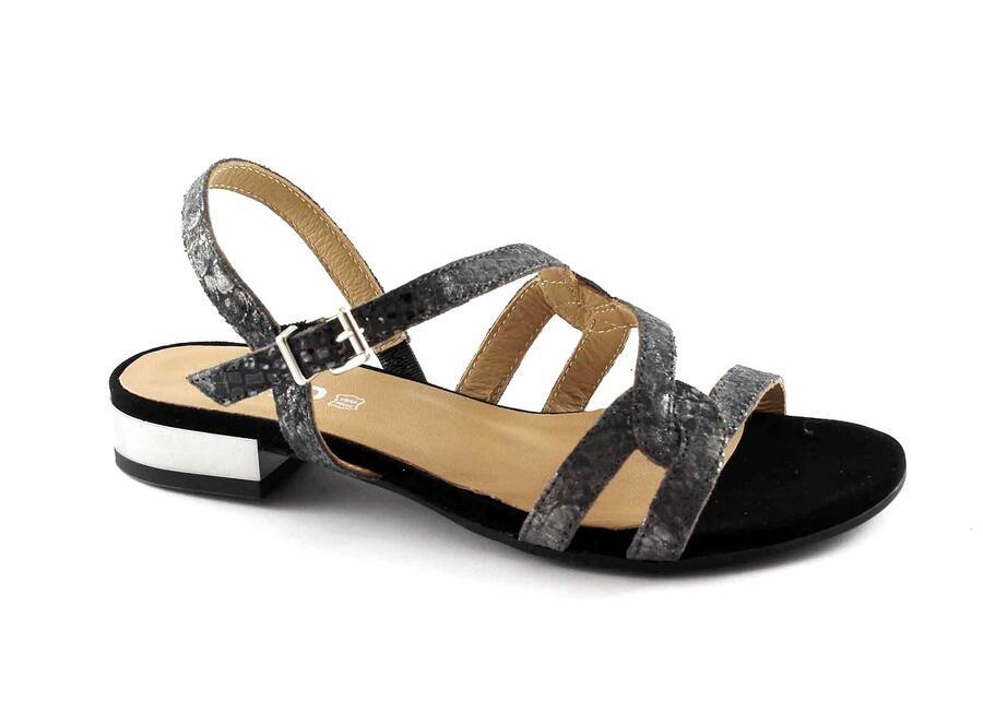 IGI&CO 78300 nero scarpe donna sandali pelle cinturino