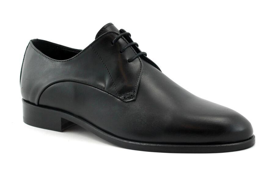 MELLUSO U0882F nero scarpe uomo derby eleganti pelle liscia