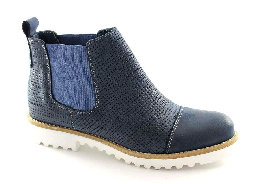 MADE IN ITALY M123 blu stivaletto donna beatles puntale